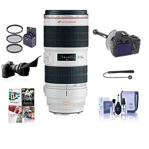 Canon EF 70-200mm f/2.8L IS II USM AF Telephoto Zoom Lens, USA - Bundle with 77mm Filter Kit, Cleaning Kit, Lens Cap Leash, Flex Lens Shade, DSLR Follow Focus & Rack Focus, Pro Software Package