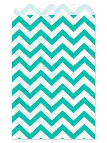 set-of-100-size-5x7-teal-chevron-paper-bags-by-my-craft-supplies