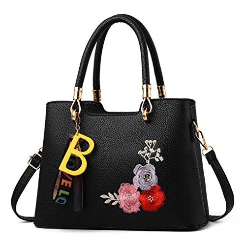 À Bandoulière Main Sac Noir Messager Glands Portatifs Cabas Mode Sacs Jiangfu Fleur Femme 8wqnaptt