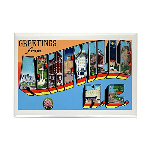 CafePress - Asheville North Carolina Greetings Rectangle Magne - Rectangle Magnet, 2