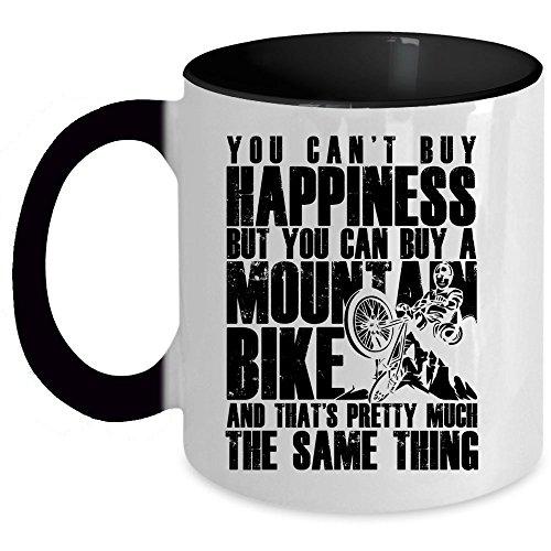 I'm A Mountain Biker Coffee Mug, You Can Buy A Mountain Bike Accent Mug (Accent Mug - Black)