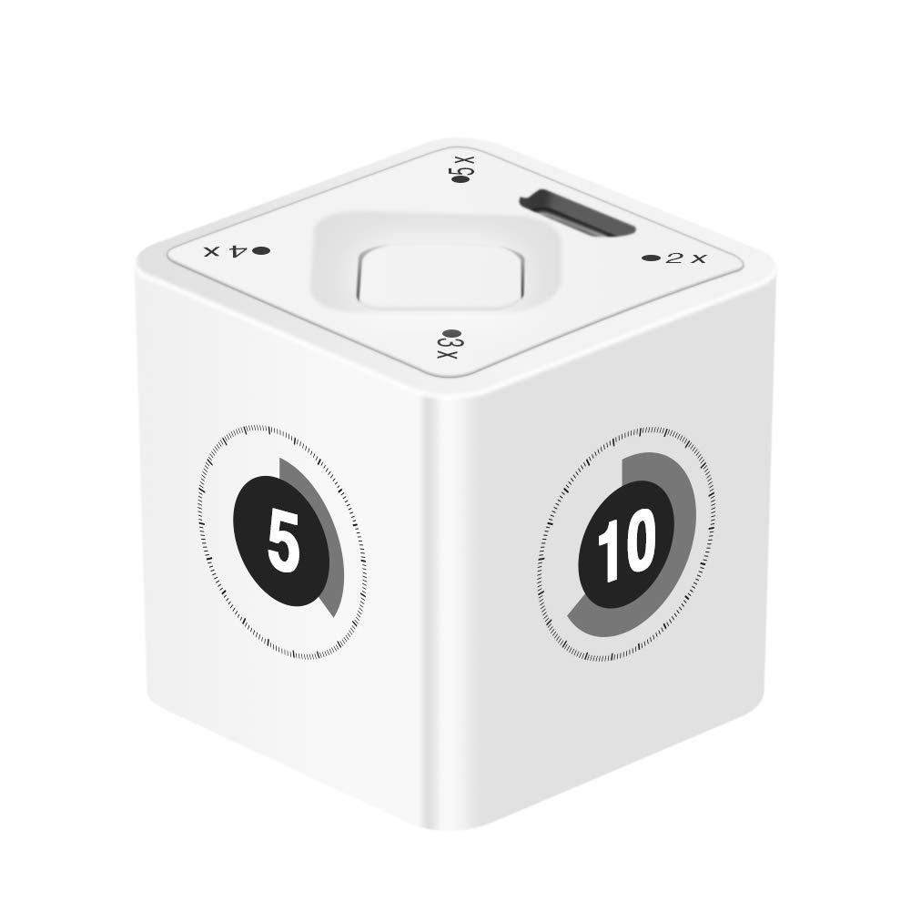 Smart Kitchen Timer,Rechargeable Cooking Timer, Gravity Sensor 1 Second Timing TimeCube
