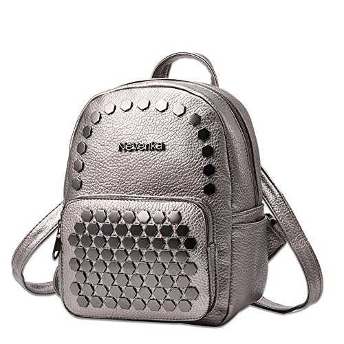 2679646183 Galleon - Nevenka Women Soft Faux Leather Sheet Backpack Purses Cute Little  Bags For Young Girls (SILVERY)