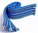 Ukrainian Hand Woven Homespun Cossack Belt Blue
