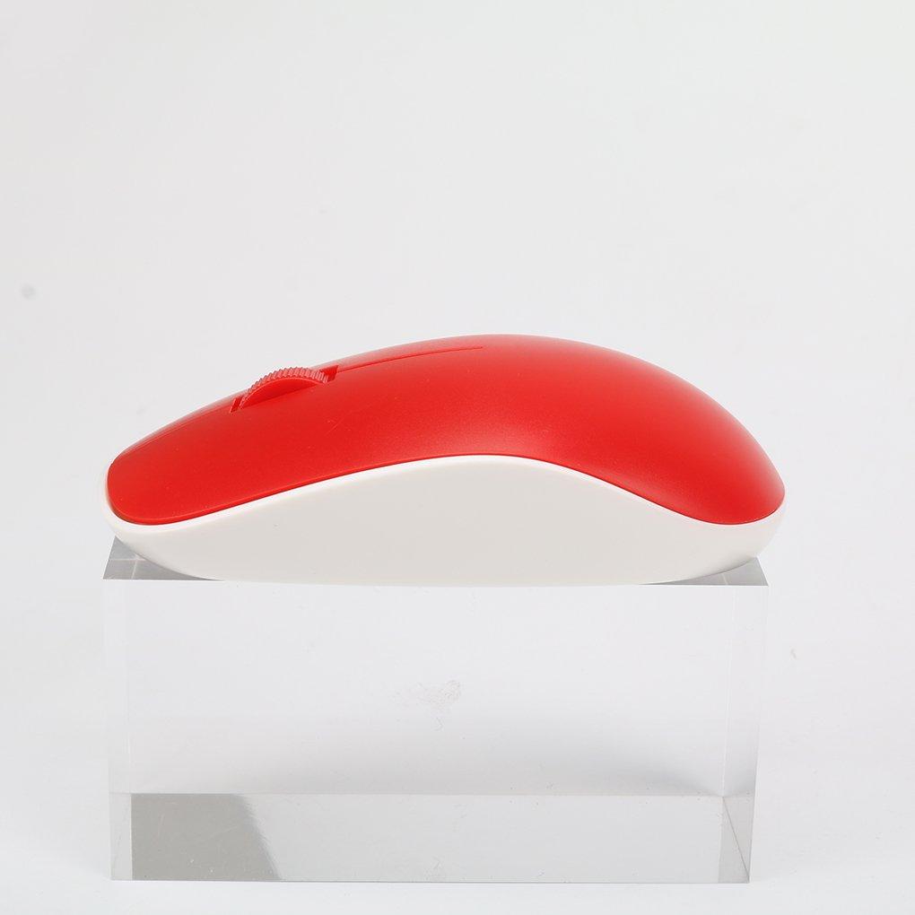 EgalBest Portable Mini USB Mice Wireless Mouse Ergonomic Optical Gaming Mouse for PC Computer Laptop Pro Gamer Blue