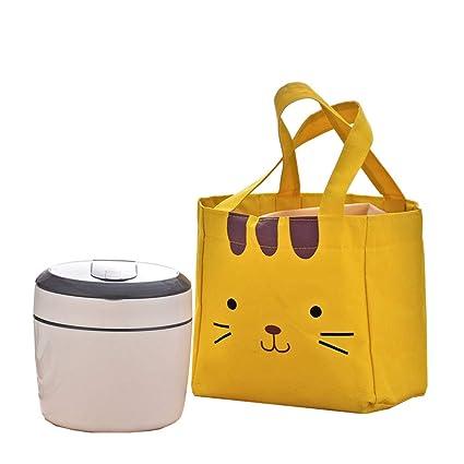 Caja portátil aislada para almuerzo 2 capas Protección del medio ambiente Anillo de sellado Bolsa de ...