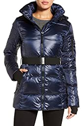 S13/NYC Womens Short Down Jacket (Medium, MIDNIGHT Blue)