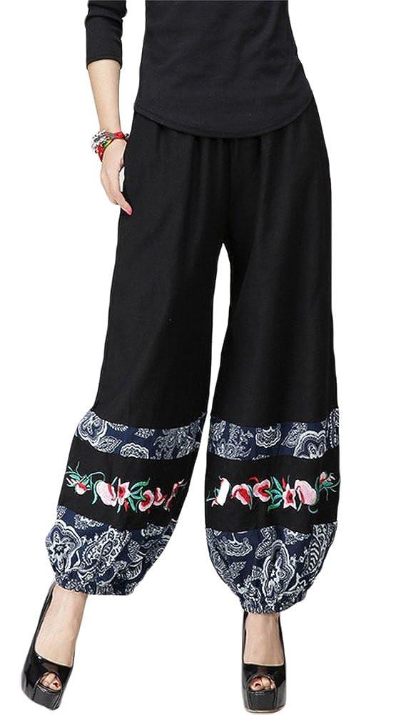 AvaCostume Womens Wide Leg Palazzo Pants Lady Loose Trousers