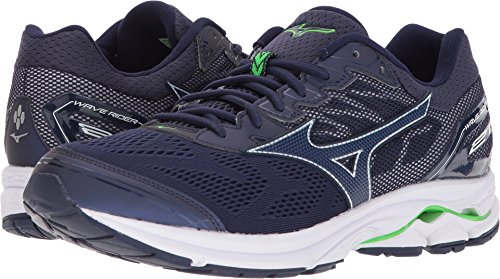 Mizuno Men's Wave Rider 21 Running Shoe, Eclipse, 10.5 D US by Mizuno