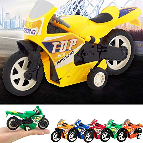 Gbell Mini Motorcycle Toy - Boys Pull Back Diecast Motorcycle, Early Model Educational Toys for Kids 1 2 3 4 5 6 7 Year Old Boys Gifts,Random Color (Random B)