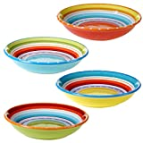 Certified International 25627SET/4 Mariachi Soup/Pasta Bowl (Set of 4), 9.25-Inch, Multicolor
