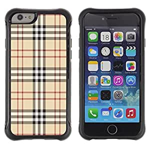 Fuerte Suave TPU GEL Caso Carcasa de Protección Funda para Apple Iphone 6 PLUS 5.5 / Business Style Fashion Brand Fabric Pattern Style Brown Classic