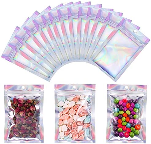 150 Resealable Aluminum Foil Ziplock Bags Food Storage Pouch Smell Proof Baggies