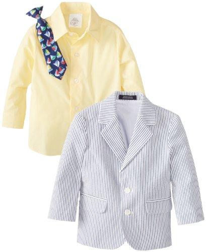 Nautica Baby-Boys Infant Seersucker Suit Set, Sunny, 18 Months