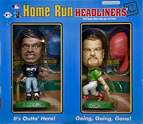 1998 - Home Run Headliners XL - Ken Griffey Jr & Mark McGwire Figures - COA's - OOP - Collectible ()