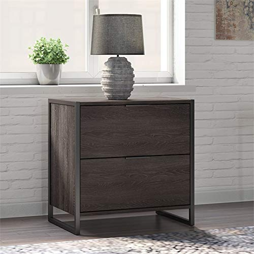 Office by Kathy Ireland Atria 2 Drawer Lateral File Cabinet in Charcoal Gray