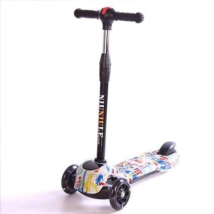 Defect Scooter eléctrico para niños Graffiti Flash Plegable ...