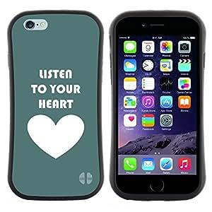 Hypernova Slim Fit Dual Barniz Protector Caso Case Funda Para Apple (5.5 inches!!!) iPhone 6 Plus / 6S Plus ( 5.5 ) [ Coeur Écouter texte Amour Teal]