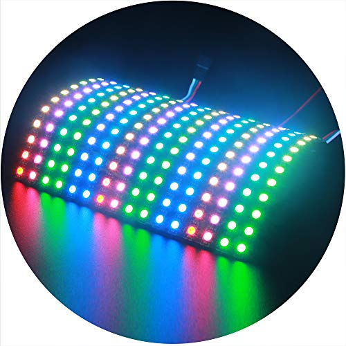 ALITOVE WS2812B Individually Addressable RGB LED Flexible Panel Matrix Screen 16x16 256 pixels Dream Color Digital LED Video Board DC5V