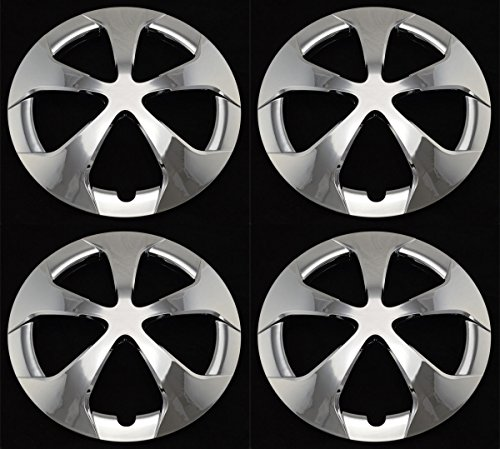 BB Auto Set of 4 New Chrome 15 inch 5 Star Chrome Wheel Covers Hubcaps Replacement for 2012-2015 Toyota ()