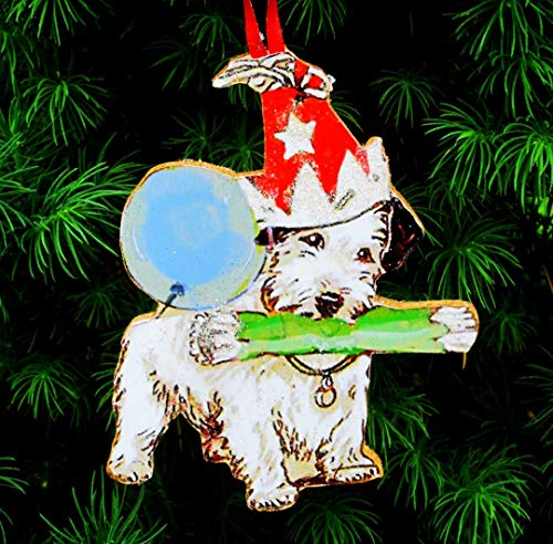 Terrier Ornament Handcrafted Wood Christmas Decoration Dog Lover