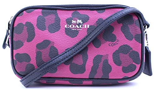 Canvas Pouch Coach Print in Ocelot Crossbody Coated UwYCqSw