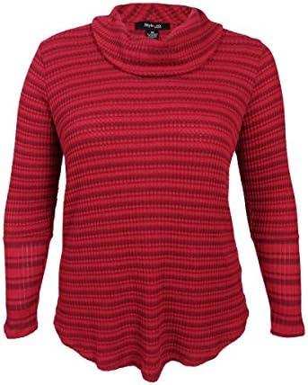 [Patrocinado] Style & Co. Womens Plus acanalado Knit Túnica suéter de rayas