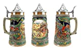 """""""Spring In Germany"""" Essence of Europe Gifts E.H.G. Collectible Ceramic Beer Stein with metal lid (#1 in Collection of Four Steins)"""