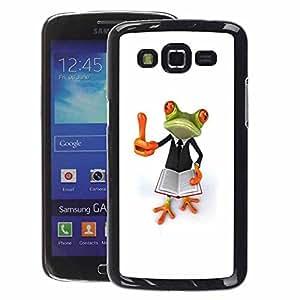 A-type Arte & diseño plástico duro Fundas Cover Cubre Hard Case Cover para Samsung Galaxy Grand 2 (Smart Book Teach White Frog)