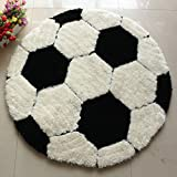 Edge to Carpet Rug Super Thick Elastic Gauze Plus Superfine Soccer Carpet Boys Kids Room Round Carpet Carpet Carpet Carpet (Color : 100100cm)