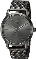steve madden Men 's Metal y acero inoxidable de cuarzo reloj Casual, color: negro (modelo: smmw002-bk)