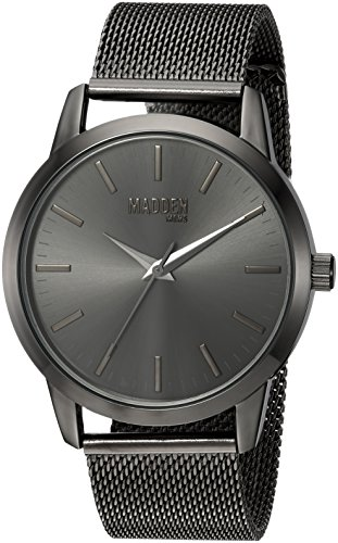 Steve Madden Men's Quartz Metal and Stainless Steel Casual Watch, Color:Black (Model: - Uk Code Warehouse Promo