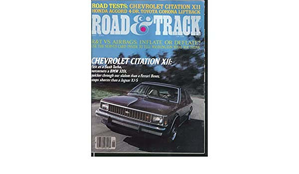 ROAD & TRACK Chevrolet Citation Toyota Corona Honda Accord road tests 5 1979 at Amazons Entertainment Collectibles Store
