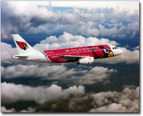Airbus A319 Us Airways - US Airways Airbus A319 Arizona Cardinals Plane 11x14 Silver Halide Photo Print