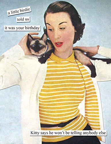 Anne Taintor Birthday Card - Birdie (Birdie Greeting Cards)