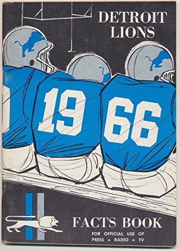 1966 Detroit Lions Media Guide, Near (1966 Detroit Lions)