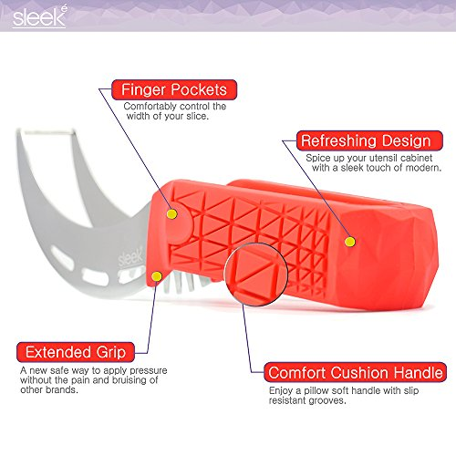 Watermelon Slicer & Tong by Sleeké - New Extended Silicone Cushioned Handle Made to Slice and Serve with Ease - No Mess, Less Stress by Sleeké (Image #3)
