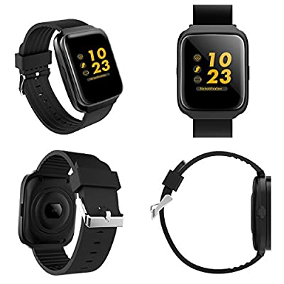 Smart Fitness Watch,Fitness Tracker Activity Tracker with Heart Rate Monitor Watch, Sleep Monitor Step Counter for Android Phones/IOS Heartrate Blood Pressure Pedometer For Women Men
