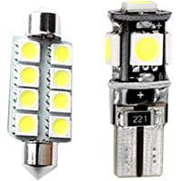 For Volkswagen POLO MK5 Dome Interior Led Lights Bulbs Kit Accessories Ultra Bright White 2Pcs