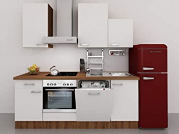 Küchenzeile Mit Retro Kühlschrank : Küchenzeile cm weiß mit dessauer geräten und retro kühlschrank
