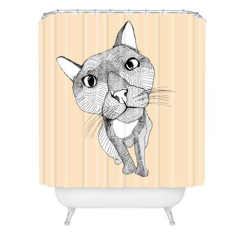 Deny Designs Casey Rogers Big Head Shower Curtain, 69