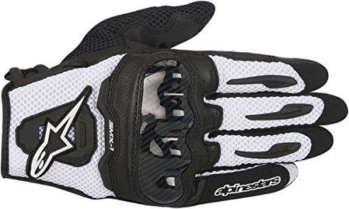 Alpinestars SMX-1 Air Mens Motorcycle Gloves - Black/White - Medium