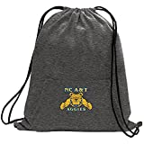 "NCAA North Carolina A&T Aggies Adult Unisex Sweatshirt Cinch Bag,17.75"" x 14.5"",Dark Heather"