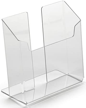 slatwall literature holders amazoncom literature holder made of clear acrylic dispenses 7