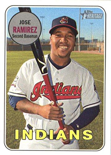 Ramirez Mlb Baseball - 2018 Topps Heritage #291 Jose Ramirez Indians MLB Baseball Card NM-MT