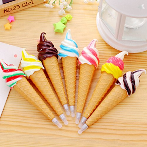 5 PCS Ice Cream Cute Ballpoint Pen Gel Pen Student Office Stationery Gift New