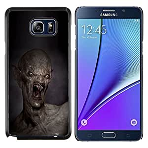 GIFT CHOICE / Teléfono Estuche protector Duro Cáscara Funda Cubierta Caso / Hard Case for Samsung Galaxy Note 5 5th N9200 // Teeth Kill Death Monster Creepy //