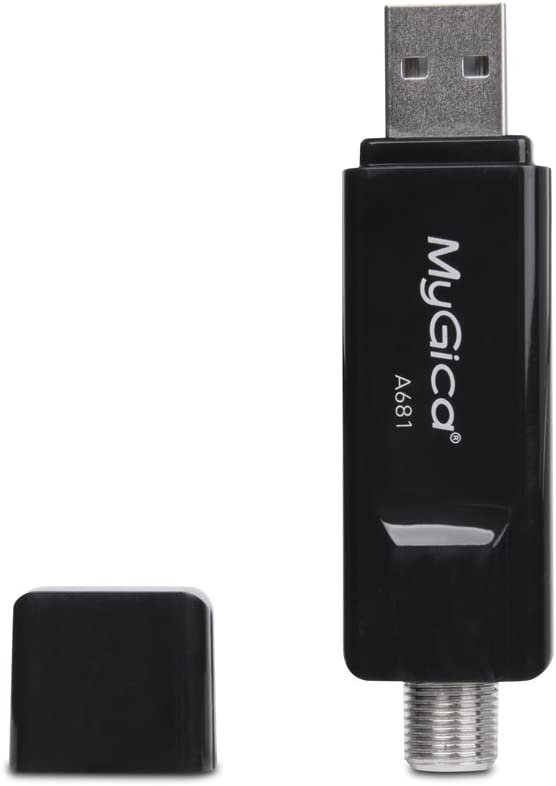 MyGica Digital HD TV Tuner ATSC/QAM USB 2.0 TV Stick - Watch Live TV in Full HD with Mini TV Antenna/PIP, Windows10/ Android TV