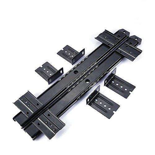 dometool UK muebles cajon diapositivas Rail 14pulgadas ordenador escritorio bandeja de teclado deslizante Rail Track Negro