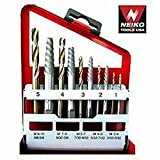 20pc. Broken Bolt Stud & Screw Extractor Solid Cobalt Left Handed Drill Bit Set